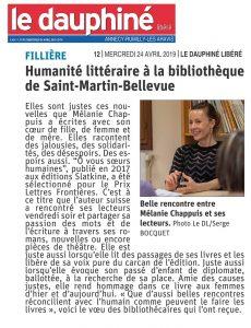 Dauphine Chappuis St Martin le 19 04 19.jpg 230x300 - Retour sur le 19 avril 2019 : rencontre de Mélanie Chappuis à Saint-Martin-Bellevue