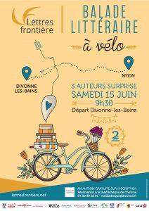 affiche balade litteraires2019 HD 212x300 - Samedi 15 juin 2019 : balade littéraire à vélo au bord du lac Léman