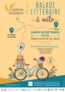 affiche balade litteraires2019 V2 212x300 - Samedi 28 septembre 2019 : balade littéraire à vélo au bord du lac Léman