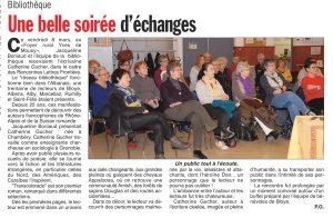Hebdo des Savoie 14 03 19 e1565189507791 300x196 - Retour sur le 8 mars 2019 : rencontre de Catherine Gucher à Bloye