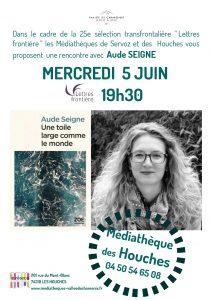 LF SEIGNE Houches 212x300 - Retour sur le 5 juin 2019 : rencontre avec Aude Seigne aux Houches