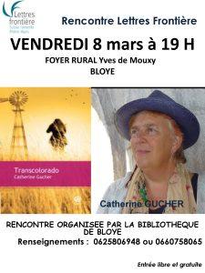 affiche Catherine Gucher 225x300 - Retour sur le 8 mars 2019 : rencontre avec Catherine Gucher à Bloye