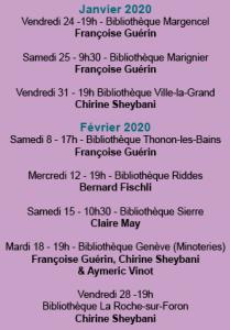 Capture décran rencontres janvier février 209x300 - Janvier/Février 2020 : les rencontres de la 26e Sélection 2019