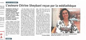 Article 1 e1581606200352 300x141 - Retour sur le 31 janvier 2020 : rencontre avec Chirine Sheybani à la médiathèque de Ville-la-Grand