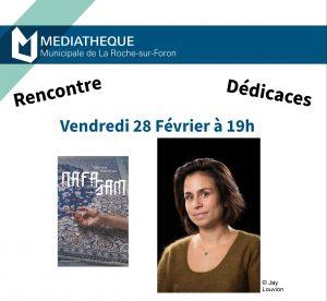 Sheybani Roche 1 e1582735635813 300x276 - Vendredi 28 février 2020 : rencontre avec Chirine Sheybani à la Médiathèque de La Roche-sur-Foron