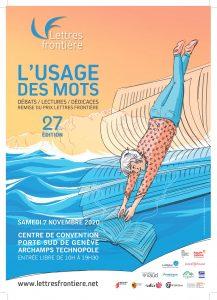 """affiche Usage des mots2020 print 217x300 - Jeudi 15 octobre 2020 : rencontre """"Coups de coeur des lecteurs"""" à Archamps"""