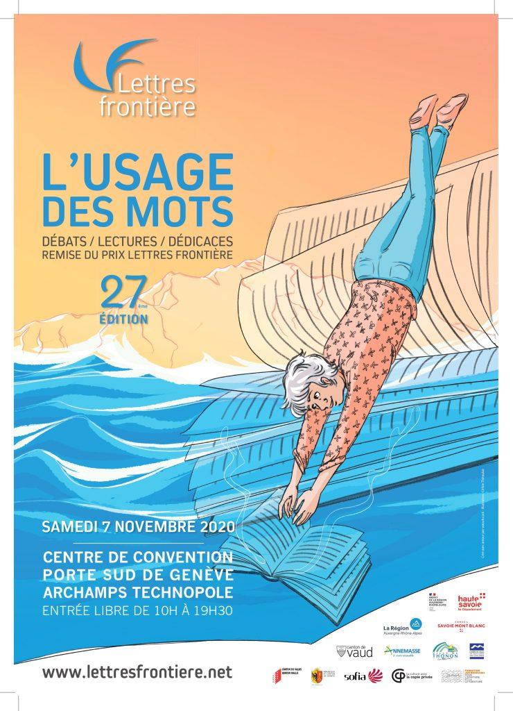 """affiche Usage des mots2020 print 740x1024 - Jeudi 15 octobre 2020 : rencontre """"Coups de coeur des lecteurs"""" à Archamps"""