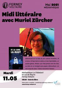affiche Ferney 1 212x300 - 11 mai 2021 : rencontre avec Muriel Zürcher à la Médiathèque de Ferney-Voltaire