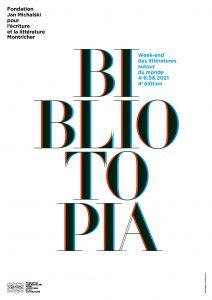 Affiche bibliotopia 2021 1 212x300 - Du 4 au 6 juin : Bibliotopia, week-end des littératures autour du monde à la Fondation Jan Michaslki
