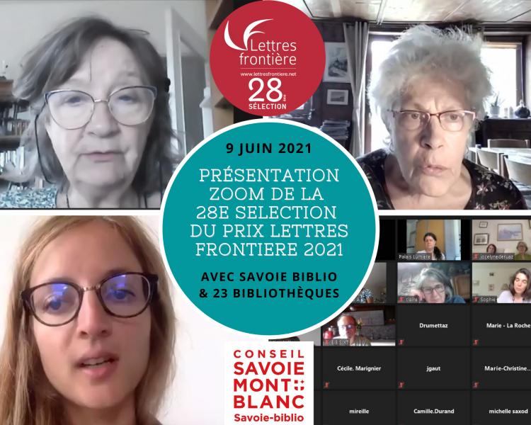 MontagePresenta° Select° SavoieBiblio 13 07 21 e1626171467906 - Retour sur la présentation de la 28e Sélection en partenariat avec Savoie-biblio